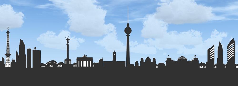 Skyline von Berlin, hier unterrichtet Peter M. Haas Akkordeon