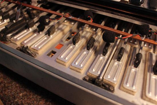 Bild 3 Die Diskantklappen-Mechanik beim Ak-kordeon